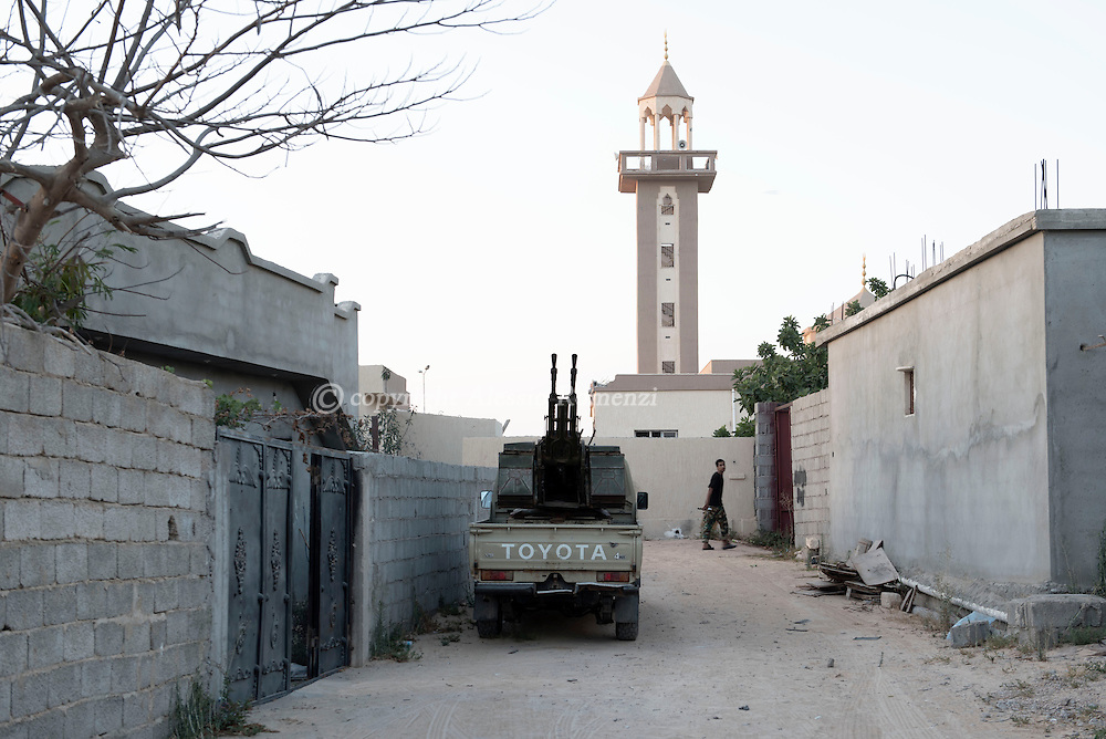 Libya: A Libya's Government of National Accord's (GNA) military car nearby by Zafran square in Sirte. Alessio Romenzi