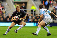 London - Saturday, November 14th 2009: Lewis Moody of England and Santiago Fernandez of Argentina during the Investec Challenge Series Game at Twickenham, London. ..(Pic by Alex Broadway/Focus Images)
