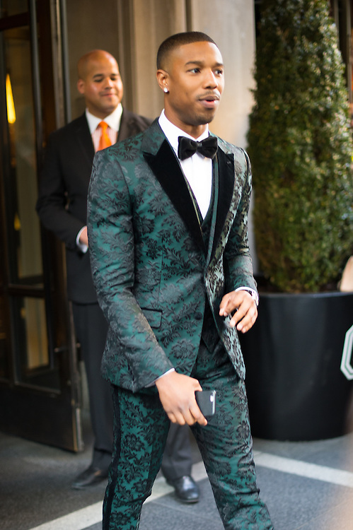 Michael B. Jordan in Dolce & Gabbana at the Met Gala 2015