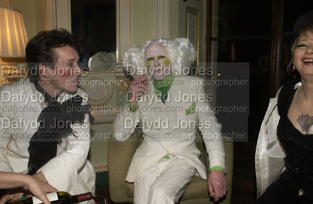 Paul Abraham and Paul Neesham. Philip Sallon and Bruce Fielding Joint birthday party. Home House. London. 12  November 2005 . ONE TIME USE ONLY - DO NOT ARCHIVE © Copyright Photograph by Dafydd Jones 66 Stockwell Park Rd. London SW9 0DA Tel 020 7733 0108 www.dafjones.com