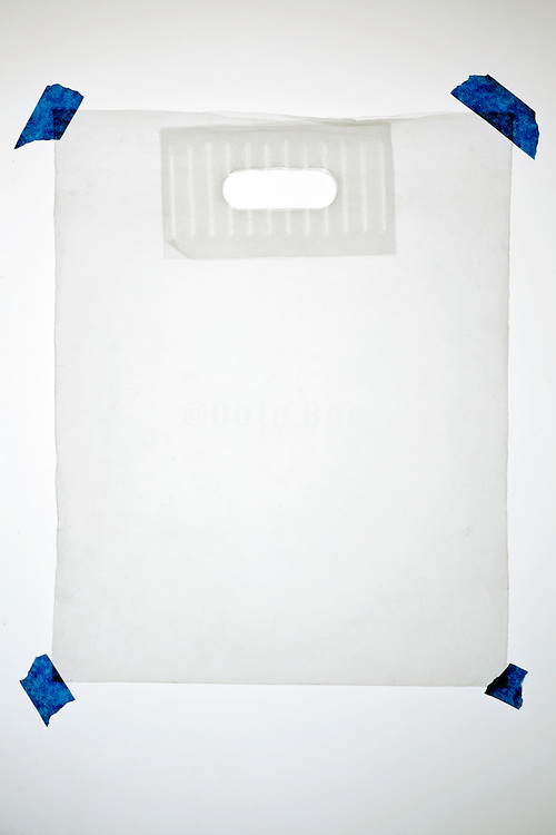 carry bag made from thick translucent plastic