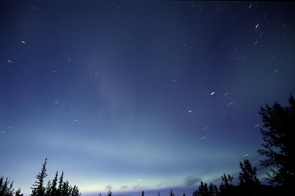 Night sky Aurora Borealis, North America