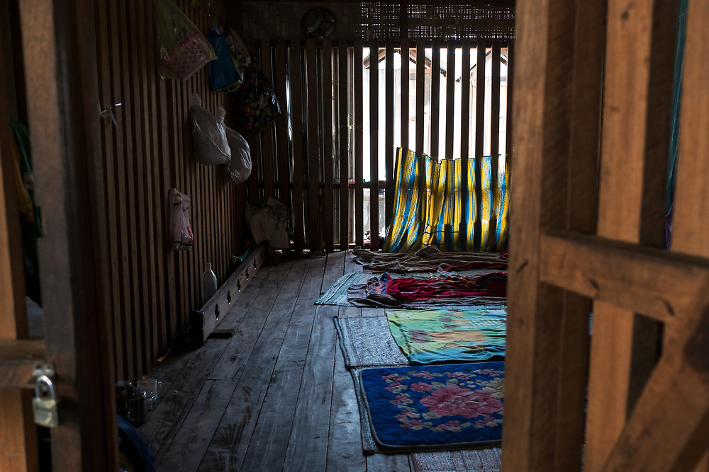 20170227 Myitkyina<br /> A look into a cage where new clients are put their first week of treatment at one of Pat Jasans drug rehabilitation centers in Myitkyina, Kachin state, Myanmar.<br /> Photo: Vilhelm Stokstad / Kontinent