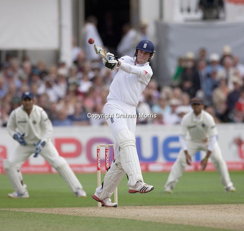 Stuart Broad bats during the second npower Test Match between England and India at Trent Bridge, Nottingham.  Photo: Graham Morris (Tel: +44(0)20 8969 4192 Email: sales@cricketpix.com) 29/07/11