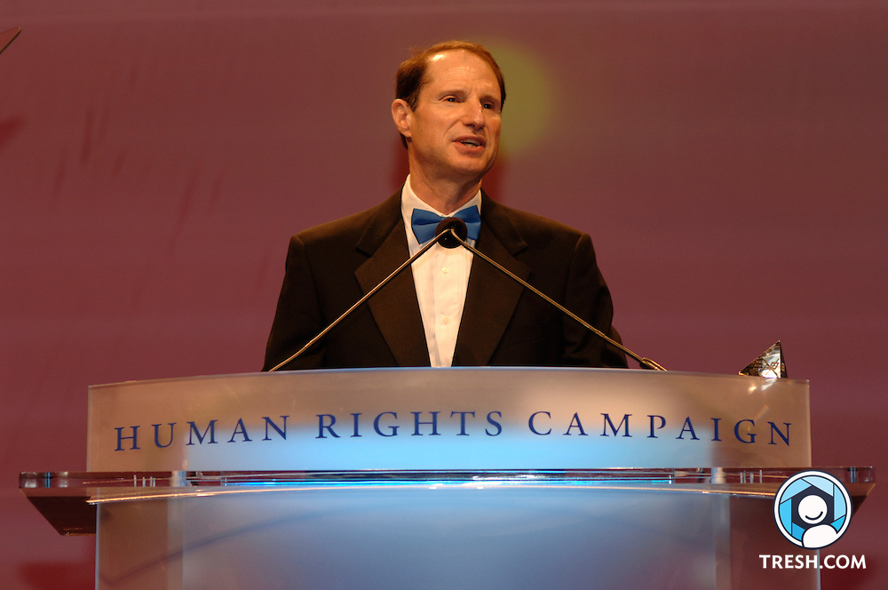 U.S. Senator Ron Wyden of Oregon speaks at the Tenth Annual HRC National Dinner