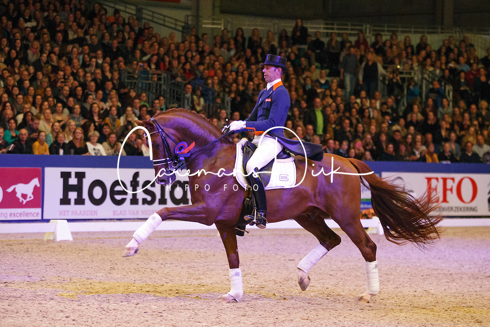 Minderhoud Hans Peter (NED) - Vivaldi<br /> KWPN Stallion Selection - 's Hertogenbosch 2014<br /> © Dirk Caremans