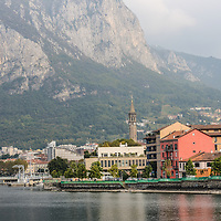 Lecco and Lake Como in northern Italy.