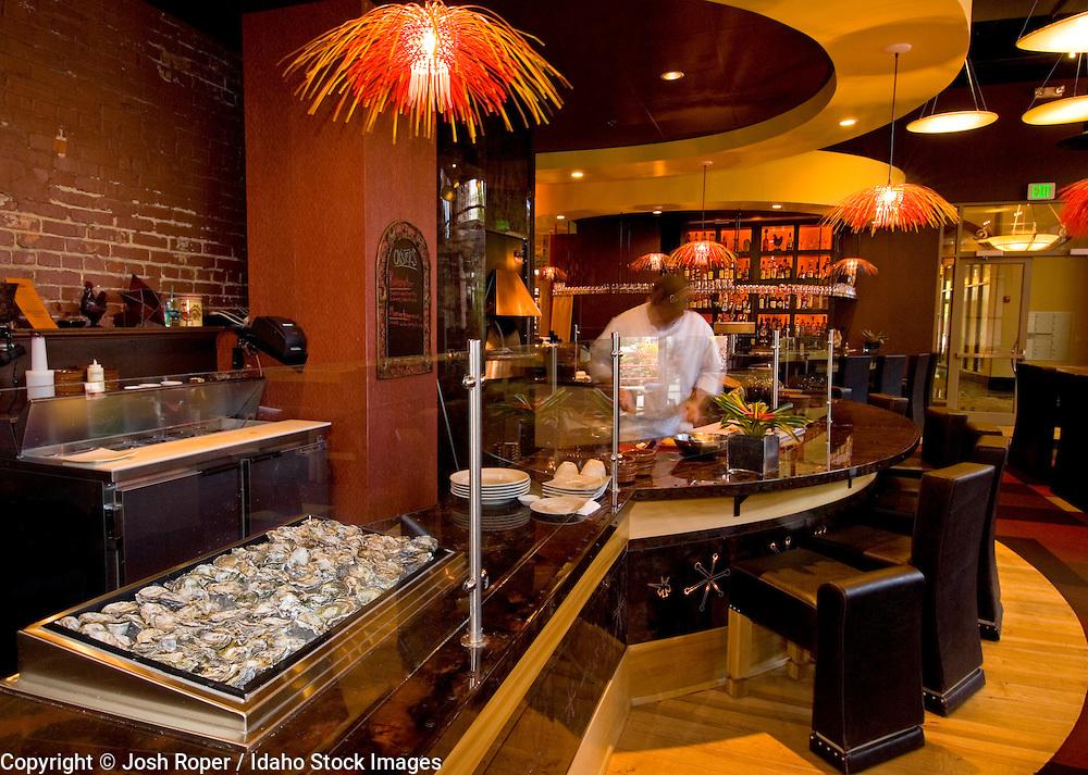 Idaho, Boise. The colorful restaurant Tapas Estrella in Downtown Boise.