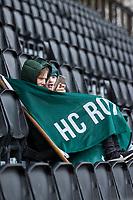 AMSTELVEEN - supporters HCR   tijdens  de hoofdklasse hockeywedstrijd Amsterdam-HC Rotterdam (7-1).    COPYRIGHT KOEN SUYK