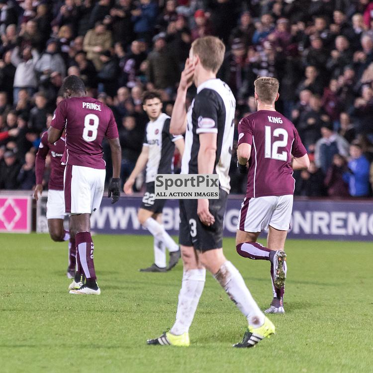 Heart of Midlothian's Prince Buaben celebrates subduedly against his old team......(c) MARK INGRAM | SportPix.org.uk