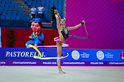 Agiurgiuculese Alexandra is an Italian individualistic gymnast, of Romanian origins, of the Italian national rhythmic gymnastics. His team in Italy is AS Udinese coached by Spela Dragas.<br /> She is the only Italian gymnast who has managed to reach four finals for an edition of the 2017 World Championships.