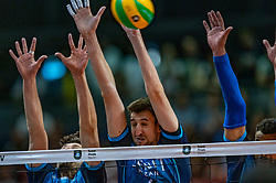18-05-2019 GER: CEV CL Super Finals Zenit Kazan - Cucine Lube Civitanova, Berlin<br /> Civitanova win the Champions League by beating Zenit in four sets / Alexander Butko #12 of Zenit Kazan, Artem Volvich #4 of Zenit Kazan
