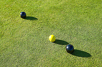 bowls on a crown green bowling green