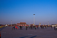 Being the largest square in the world even with thousands of people gathered it is a struggle to make Tiananmen Square look crowded.