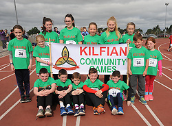 The Kilfian group before the parade at Mayo Community Games finals<br /> Pic Conor McKeown