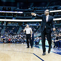 01 February 2016: Memphis Grizzlies head coach David Fizdale is seen during the Memphis Grizzlies 119-99 victory over the Denver Nuggets, at the Pepsi Center, Denver, Colorado, USA.