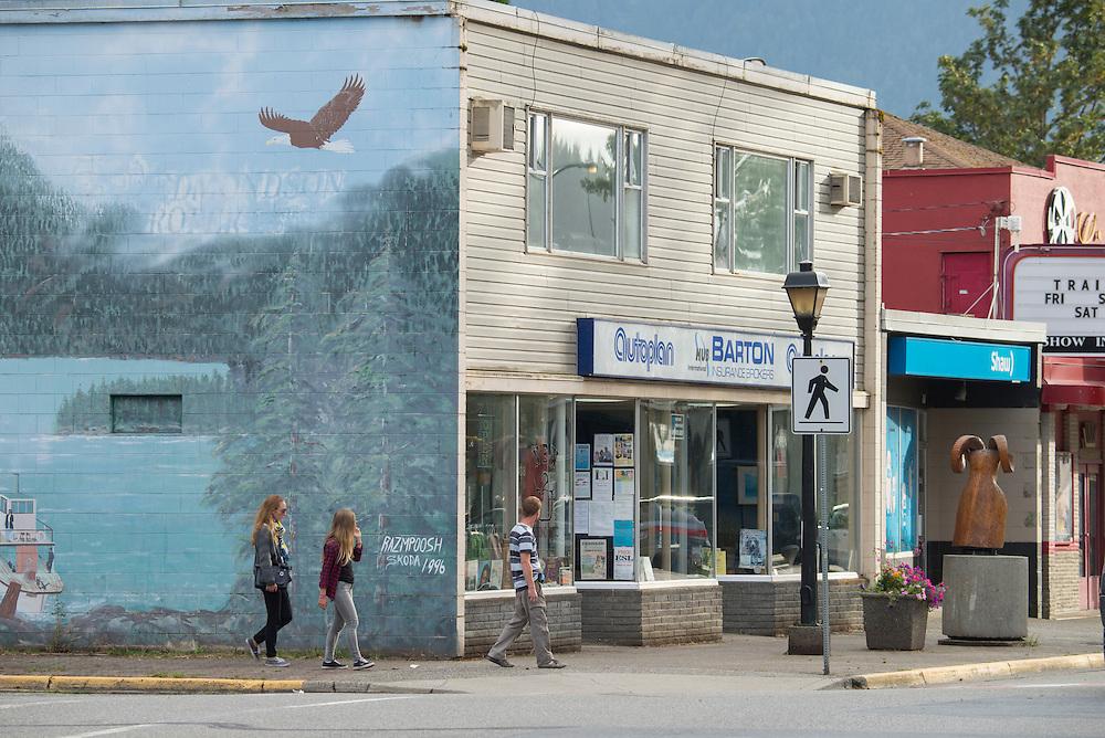 Canada, British Columbia,Hope, street scene,