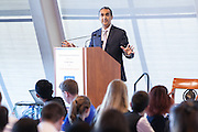 "Bob Miglani, author of ""Embrace the Chaos,"" was a keynote speaker at Virtual Enterprises International's Global Business Challenge was part of the Youth Business Summit held at NYU's Kimmel Center in New York on April 1, 2014. (Photo: JeffreyHolmes.com)"