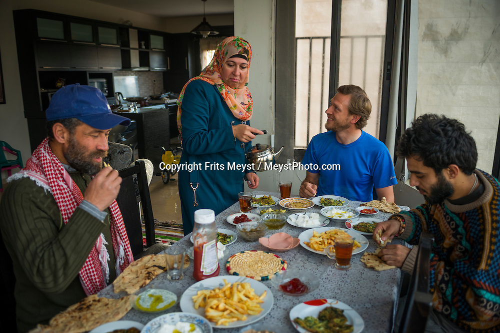 Palestine, March 2015. Homestay with a Palestinian family in Kafr Malek. The Abraham Path is a long-distance walking trail across the Middle East which connects the sites visited by the patriarch Abraham. The trail passes through sites of Abrahamic history, varied landscapes, and a myriad of communities of different faiths and cultures, which reflect the rich diversity of the Middle East. Photo by Frits Meyst / MeystPhoto.com for AbrahamPath.org