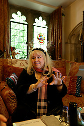 UK ENGLAND THAME 27AUG14 - Dwina Gibb, widow of Bee Gee Robin Gibb reacts during an interview at her home in Thame, Oxfordshire.<br /> <br /> <br /> <br /> The Bee Gees have sold more than 120 million records worldwide, making them one of the world's best-selling music artists of all time.<br /> <br /> jre/Photo by Jiri Rezac<br /> <br /> <br /> <br /> © Jiri Rezac 2014