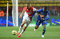 Fotball<br /> Frankrike<br /> 13.03.2015<br /> Foto: Panoramic/Digitalsport<br /> NORWAY ONLY<br /> <br /> FABINHO (mon) - Floyd AYITE (bas)<br /> Monaco vs Bastia - League 1 - 03/13/2015