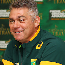 DURBAN, SOUTH AFRICA - AUGUST 12: Heyneke Meyer (Head Coach) of South Africa during the South African national rugby team announcement at Kashmir Restaurant on August 12, 2015 in Durban, South Africa. (Photo by Steve Haag/Gallo Images)