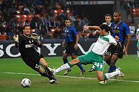 """Claudio Pizarro scores for Werder<br /> Il gol di Claudio Pizarro<br /> Milano 01/10/2008 Stadio """"Giuseppe Meazza"""" <br /> Champions League 2008/2009<br /> Inter Werder Bremen (1-1)<br /> Foto Andrea Staccioli Insidefoto"""
