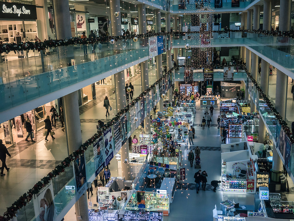 The Zamok shopping mall on Sunday, November 22, 2015 in Minsk, Belarus.