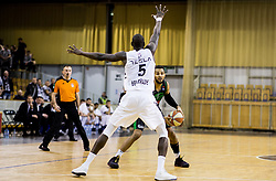 Bandja Sy of Partizan NIS vs Devin Oliver of Petrol Olimpija during basketballl match between KK Petrol Olimpija Ljubljana and KK Partizan NIS mts in Round #20 of ABA League 2017/18, on February 10, 2018 in Tivoli sports hall, Ljubljana, Slovenia. Photo by Vid Ponikvar / Sportida
