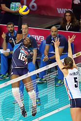 MIRIAM FATIME SYLLA<br /> ITALIA - OLANDA<br /> VOLLEYBALL WORLD GRAND PRIX 2016<br /> BARI 18-06-2016<br /> FOTO GALBIATI - RUBIN