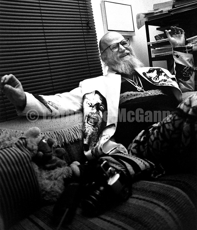January 1997:  A portrait of artist and photographer Billy Name at home in Poughkeepsie, New York.
