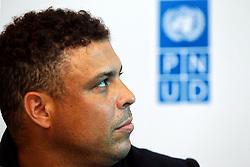 Ronaldo Nazário durante coletiva de imprensa sobre a 10ª edição do Jogo Contra a Pobreza (Match Against Poverty). FOTO: Jefferson Bernardes/Preview.com