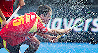 LONDON -  Unibet Eurohockey Championships 2015 in  London. 05 Spain v Russia. Spanish Pau Quemada scores.  WSP Copyright  KOEN SUYK
