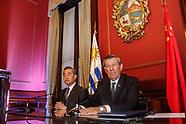 Canciller de China Wang Yi en Uruguay