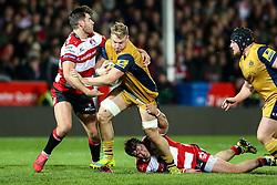 Mitch Eadie of Bristol Rugby is tackled - Rogan Thomson/JMP - 03/12/2016 - RUGBY UNION - Kingsholm Stadium - Gloucester, England - Gloucester Rugby v Bristol Rugby - Aviva Premiership.