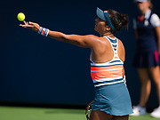Heather Watson of Great Britain in action during the final qualifications round, at the 2018 US Open Grand Slam tennis tournament, New York, USA, August 24th 2018, Photo Rob Prange / SpainProSportsImages / DPPI / ProSportsImages / DPPI