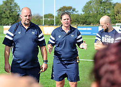 Bristol Bears Women head coach Kim Oliver in post-match huddle - Mandatory by-line: Paul Knight/JMP - 02/09/2018 - RUGBY - Shaftsbury Park - Bristol, England - Bristol Bears Women v Dragons Women - Pre-season friendly