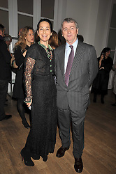 AMANDA, LADY HARLECH and STEPHEN QUINN at a dinner hosted by Nicole Farhi at 16 Fouberts Place, London W1 on 9th February 2009.