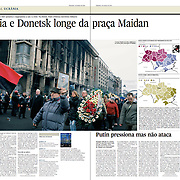 "Tearsheet of ""Kiev protests"", published in Expresso"