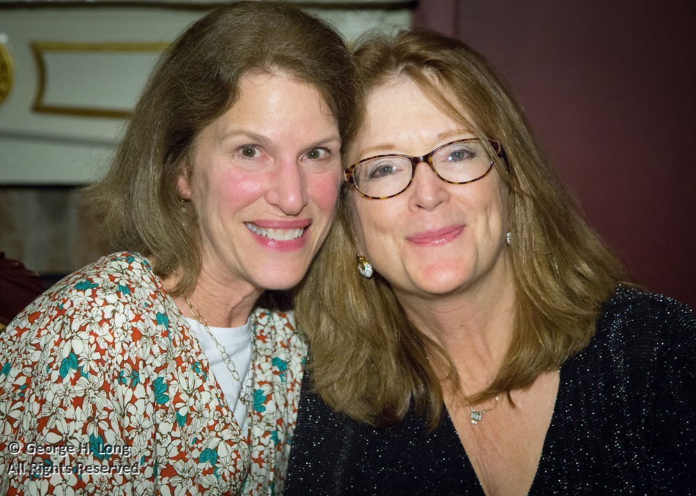 Michelle McCarthy and Janis Long at Janis' 60th birthday party at Muriel's Jackson Square restaurant in New Orleans on March 25, 2017