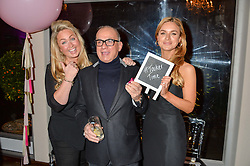 Lef to right, SINCLAIR SELLARS, TOUKER SULEYMAN and INDIA SELLARS at a party to celebrate the new partnership of Maids to Measure with Touker Suleyman held in The Winter Marquee, Home House, 20 Portman Square, London on 2nd March 2016.