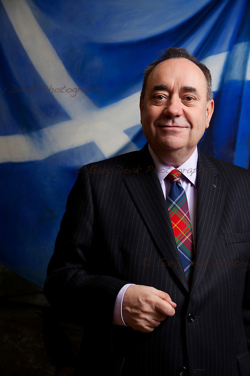 First Minister, Alex Salmond in his office at the Scottish Parliament