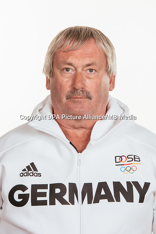 Jürgen Sammert poses at a photocall during the preparations for the Olympic Games in Rio at the Emmich Cambrai Barracks in Hanover, Germany, taken on 14/07/16 | usage worldwide