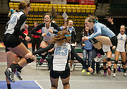 The Skyview Bobcats celebrate a point during the Utah State High School Volleyball 4A championship match between Skyview and Timpview in the UCCU in Orem, Saturday, Nov. 3, 2012.