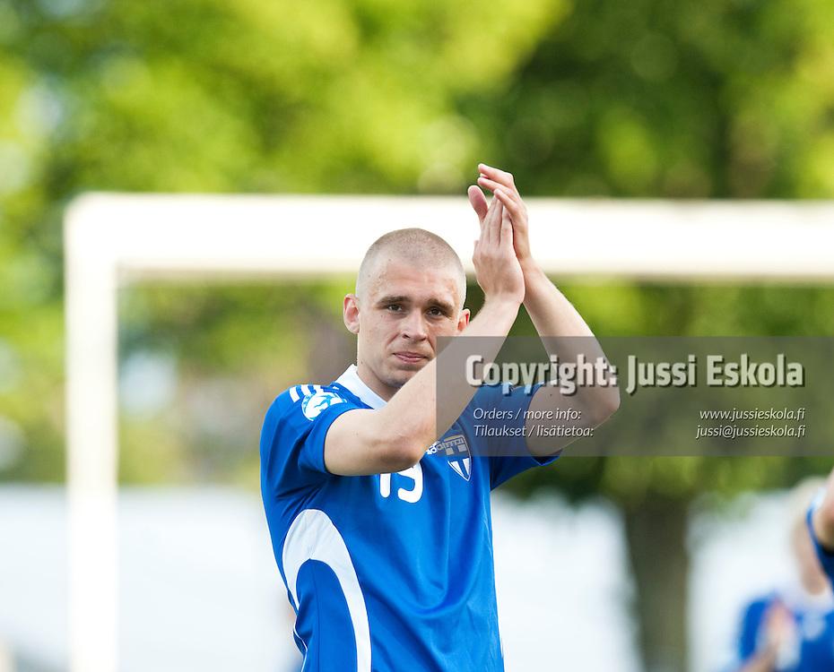 Aleksander Kokko. Saksa - Suomi. Alle 21-vuotiaiden EM-turnaus. Halmstad, Ruotsi 18.6.2009. Photo: Jussi Eskola