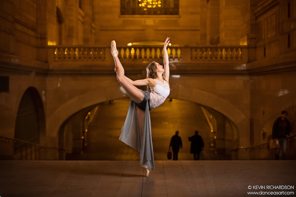 Dance As Art The New York City Photography Project Grand Central Series with dancer Anastasia Fedorova