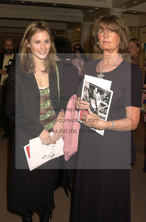 Left to right, MRS ZAC GOLDSMITH and her mother in law LADY GOLDSMITH, at a party in London on 7th November 2000.OIT 38