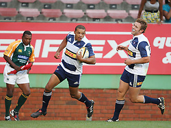 Elgar Watts of the DHL Stormers runs over the tryline during the final warm-up match before the start of the Super Rugby season between the DHL Stormers and the Boland Cavaliers held at DHL Newlands Stadium in Cape Town, South Africa on 12 February 2011. Photo by Jacques Rossouw/SPORTZPICS