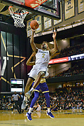 Vanderbilt Commodores guard Joe Toye (2) drives in for the shot against the Alcorn State Braves during the first half of a NCAA college basketball game in Nashville, Tenn., Friday, Nov 16, 2018. (Jim Brown/Image of Sport)
