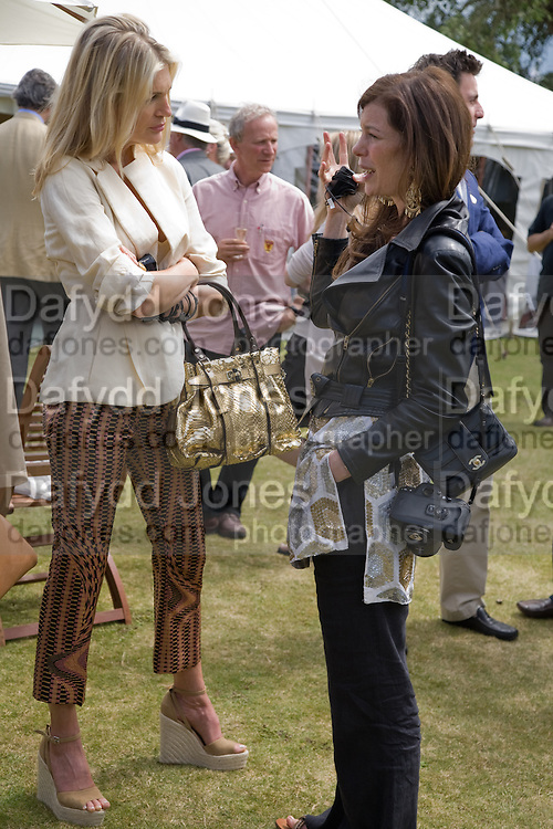Priscilla Waters; Caitlin Mavroleon, The Cartier Style et Luxe Concours lunch at the Goodwood Festival of Speed. July 13, 2008  *** Local Caption *** -DO NOT ARCHIVE-© Copyright Photograph by Dafydd Jones. 248 Clapham Rd. London SW9 0PZ. Tel 0207 820 0771. www.dafjones.com.